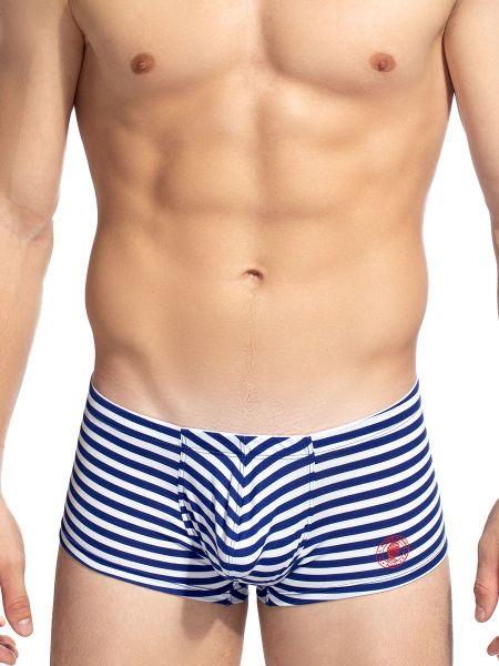 L'Homme Connor: Push-Up Boxer, blau/weiß