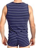 L'Homme Saint Malo: Short Body, marine/weiß