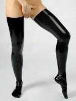 Latex-Strümpfe, schwarz