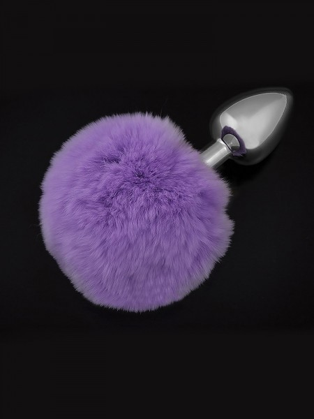 Dolce Piccante Jewellery Small Tail: Edelstahl-Analplug, silber/purple
