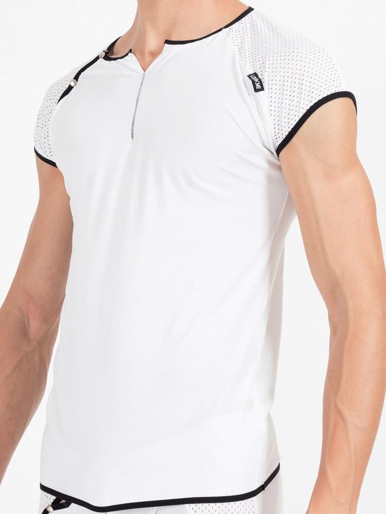 Look Me Mixing: T-Shirt, weiß