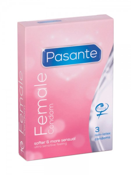 Pasante Female Condom: Kondome, 3er Pack
