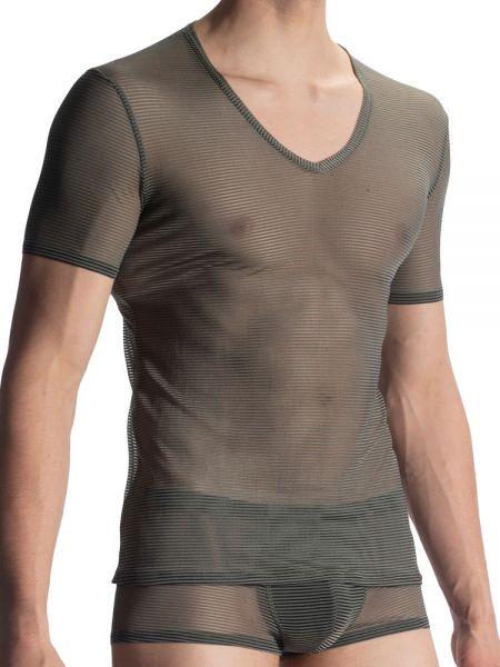 Olaf Benz RED1906: V-Neck-Shirt, olive