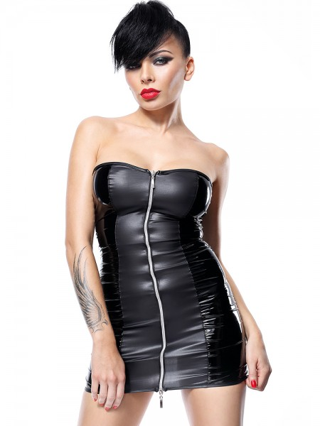 Demoniq Hard Candy Minikleid: Greta, schwarz