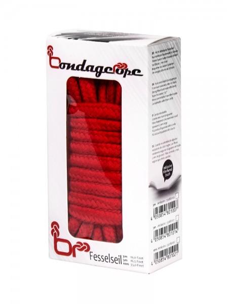 Bondage Rope: Bondageseil, rot (3m)
