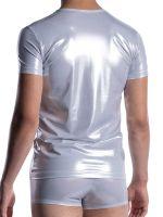 MANSTORE M2057: V-Neck-Shirt, silber