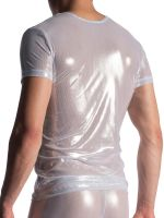 MANSTORE M907: V-Neck-Shirt, weiß