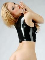 Latex-Top: Lady Savjana, schwarz