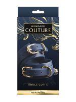 Bondage Couture Ankle Cuff: Fußfesseln, blau