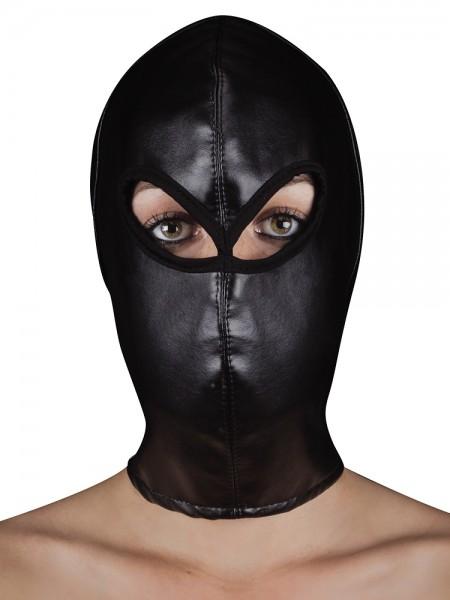 Ouch! Extreme Leather Hood: Kopfmaske, schwarz