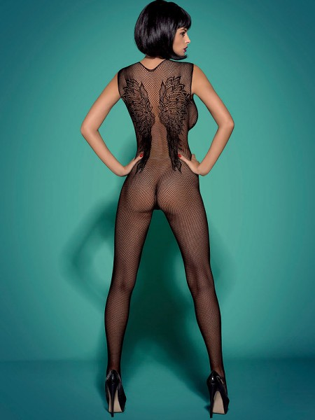 Obsessive N112: Ouvert-Catsuit, schwarz