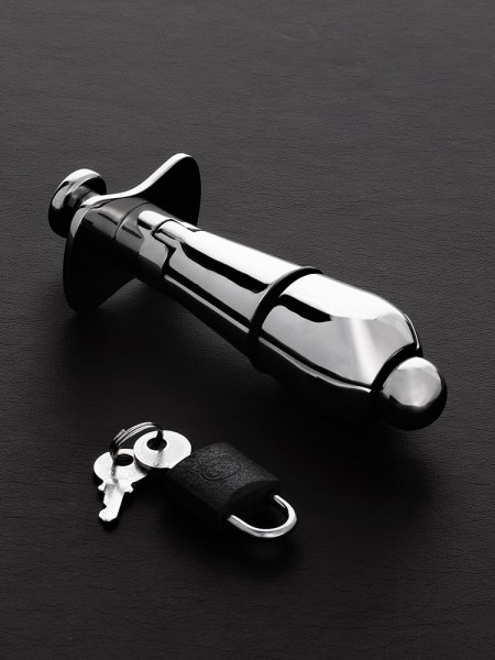 Triune Deluxe Anal Locking Plug: Edelstahl-Analplug