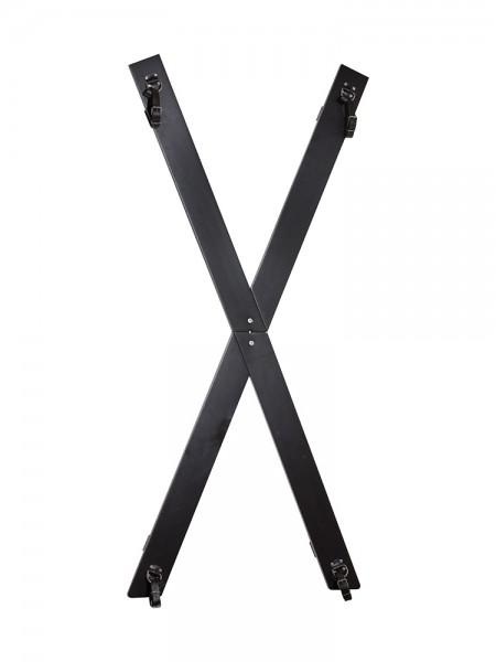 Andreaskreuz mit Fesselriemen, schwarz