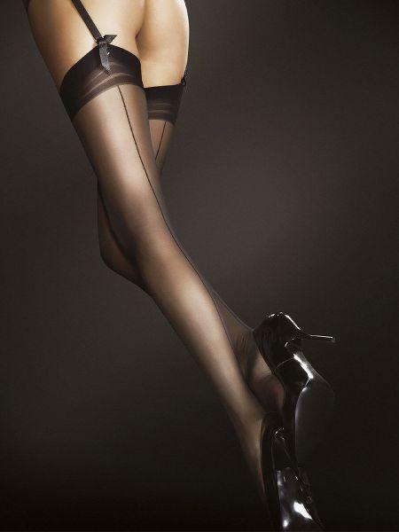 Fiore Marlena: Strapsstrümpfe, schwarz
