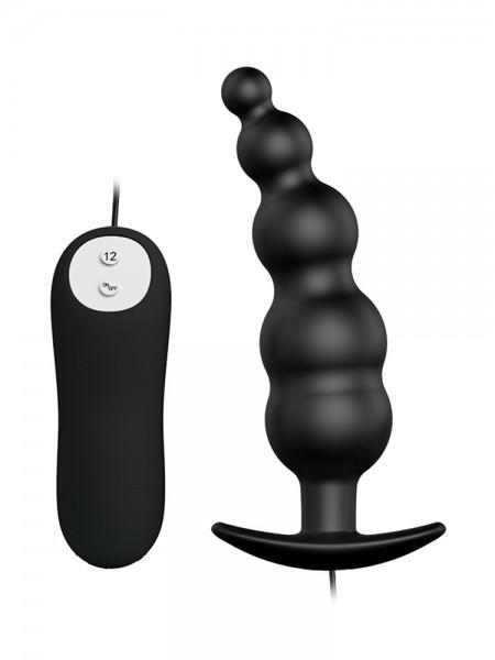Crazy Bull Patrick: Vibro-Analplug, schwarz