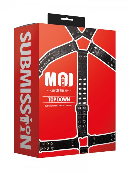MOI Submission Top Down Mans Body Harness, schwarz