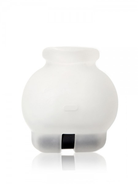 Perfect Fit Bull Bag Buzz: Vibro-Hodenstretcher, transparent