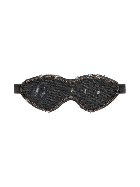 Ouch! Denim Eye Mask: Augenmaske, jeans-schwarz