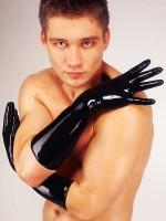 Latex-Handschuhe mittel, schwarz