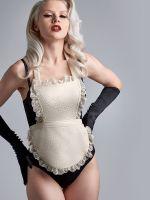 Marlies Dekkers Déesse de la Cuisine: Plunge Balcony Body, schwarz/elfenbein