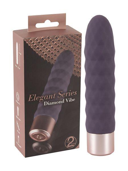 Elegant Series Diamond Vibe: Minivibrator, dunkel-lila