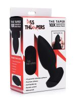 Ass Thumper The Taper 10X: Vibro-Analplug, schwarz