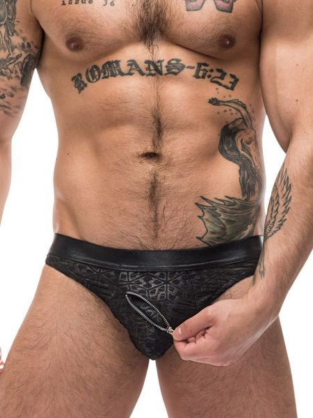 Male Power Zip It: 2-Zip Bikini Brief