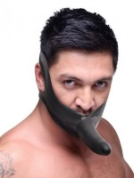 Master Series Face Fuk On Mouth Gag: Strap On, schwarz