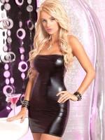 Pink Lipstick Minikleid: Hot & Wet, schwarz