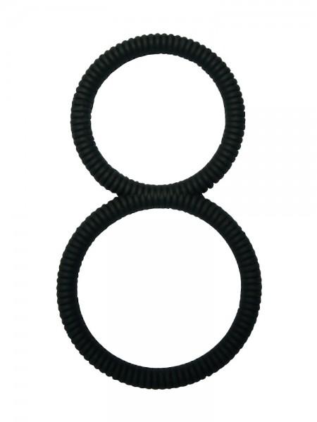 Malesation 8 Ring: Penis-/Hodenring, schwarz