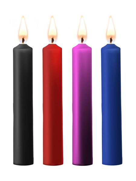 OUCH! Teasing Wax Candles: SM-Kerzen 4er Pack, bunt gemischt