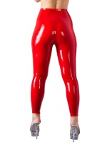 Latex-Leggings, rot