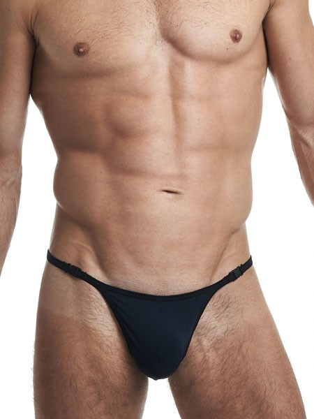 L'Homme Sensitive: Stripstring, schwarz