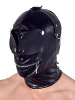 Kopfmaske mit Augenklappe, schwarz