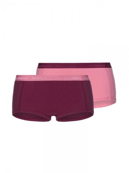Bruno Banani Flooding: Panty 2er Pack, bordeaux/strawberry
