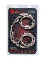 Kink Hogtied Bind & Tie Hamp Cuffs: Bondage-Seil-Fessel, naturell
