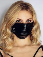 Noir Handmade: Maske mit Nieten, schwarz