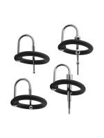 Kink Ring & Plug Set: Eichelringe-Set, schwarz/silber
