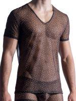 MANSTORE M855: V-Neck-Shirt, leopard