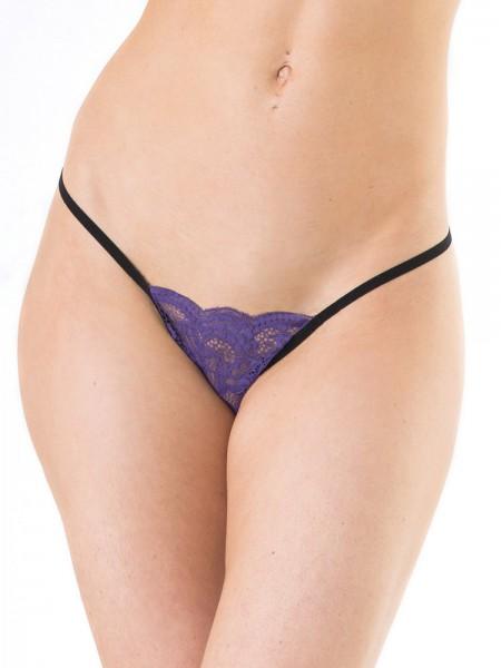 Coquette: String, lila/schwarz