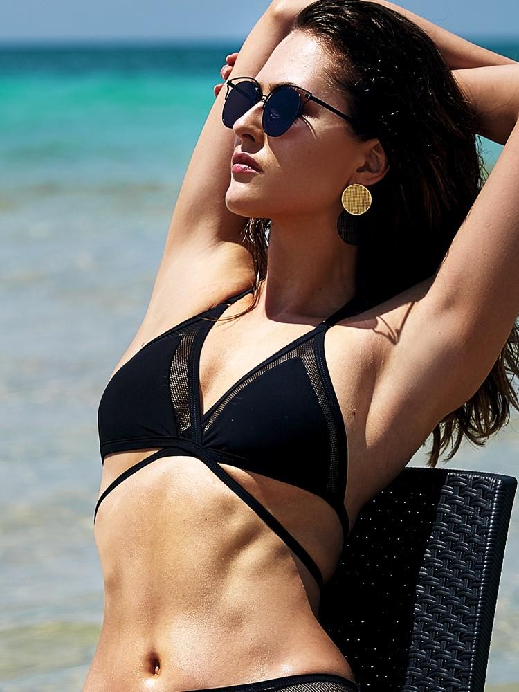 Anabel Arto: Bikini Top, schwarz
