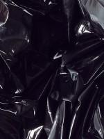 Lack Orgy-Spannbettlaken, schwarz 160x200cm