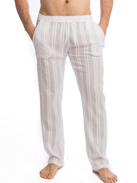 L'Homme Benares: Loungehose, weiß