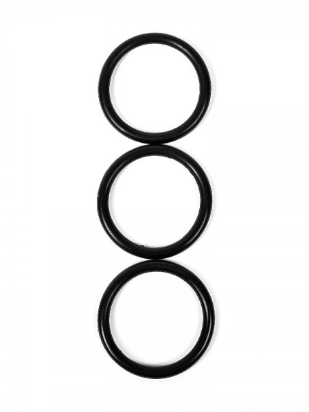 Perfect Fit Premium Silicone Rings XL: Penisringe-Set, schwarz
