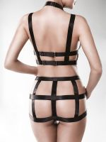 Grey Velvet 15125: Ouvert-Harness-Set 2-teilig, schwarz