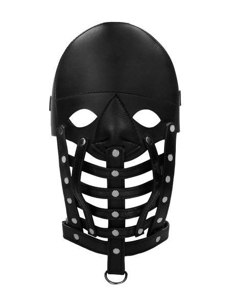 Ouch! Pain Leather Male Maske: Herren-Ledermaske, schwarz