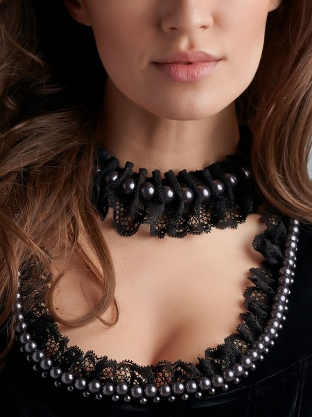 Marlies Dekkers Queen of Pearls: Necklace, black pearl