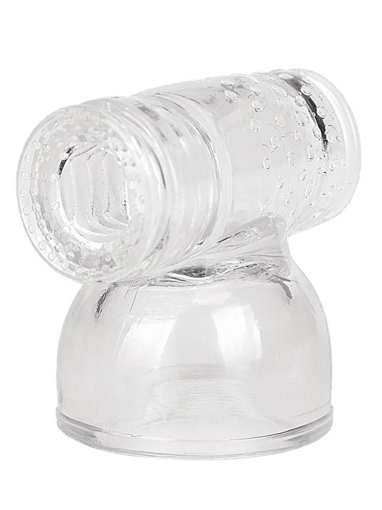 Body Wand Stroker Attachment: Vibratoraufsatz, transparent