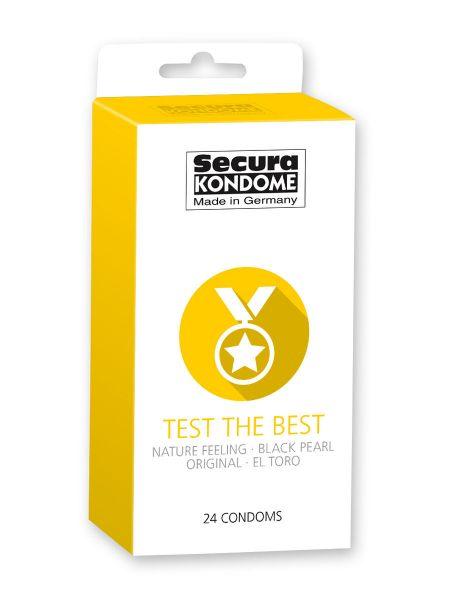 Secura Test the Best: Kondome, 24er Pack