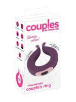Couples Choice Two Motors Couple Ring: Paarvibrator, lila